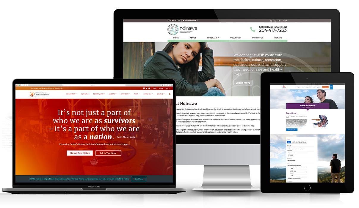 Indigenous webdesign hero